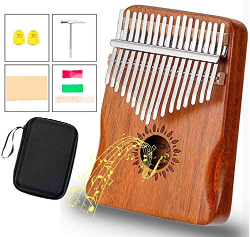 test Kalimbasam Klavier 17 Tasten, verbessertes Design, Akazienholz, Schutzhülle, Locher, tragbar,… Deutschland