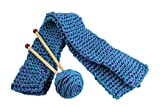 Harrisville Designs Quick to Knit Scarf, Knitting Kit, Weaving for Beginners for Kids and Adults-Blue/Purple
