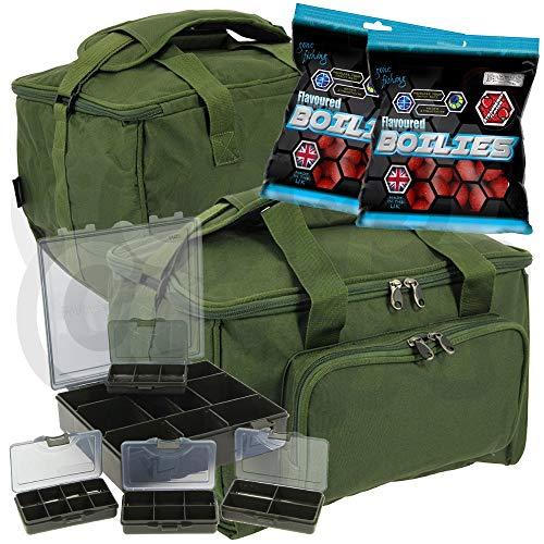 Karpfen Angeln-Medium Carry All Gerät oder Köder Tasche und 4+1 Bit Kisten Gratis Fischköder