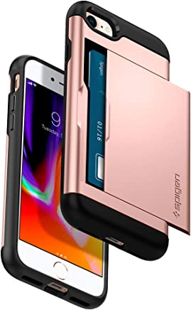 Spigen Slim Armor CS iPhone 7 Case / iPhone 8 Case with Slim Dual Layer Wallet Design and Card Slot Holder for Apple iPhone 7 (2016) / iPhone 8 (2017) (Rose Gold)