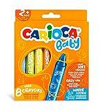 CARIOCA BABY WILD CRAYONS | 42892 - Ceras Blandas para Niños a Partir de 24 Meses, 8 Unidades , color/modelo surtido
