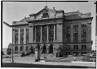HistoricalFindings Photo: Hudson County Courthouse,583 Newark Avenue,Jersey City, Jersey,NJ,HABS