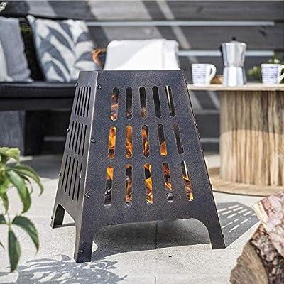 La Hacienda 58573 Anubis Steel Fire Pit Basket Bowl Outdoor Heater Patterned from La Hacienda