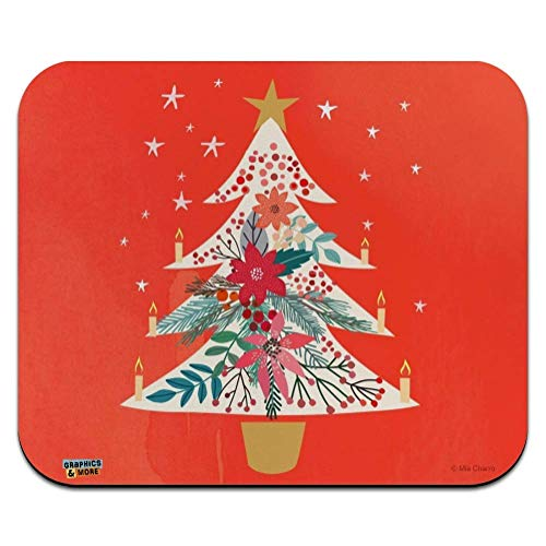 Christmas Tree with Candles Low Profile Thin Mouse Pad Mousepad 25x30cm