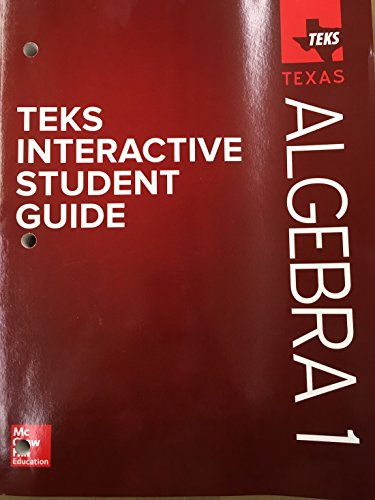 Teks Interactive Student Guide - Texas Algebra 1