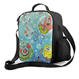 Lunch Bag Insulated Lunch Box Spongebob And Squidward Tentacles Tote Bag Cooler Bag Meal Prep Containers For Women Men Adults