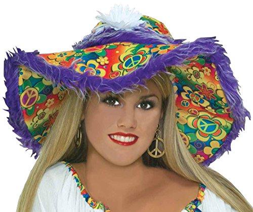 Forum Novelties Women's Generation Hippie Floppy Costume Hat, Multi, One Size