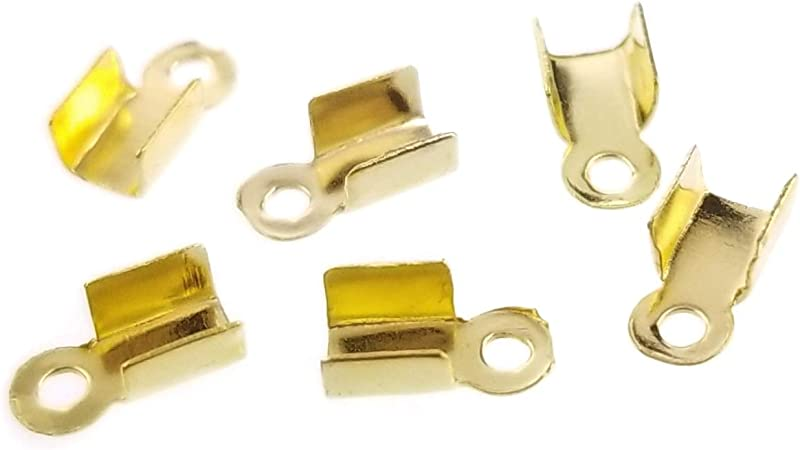 30 glue in  cord end cap  pieces  termintors  interior is 5 mm  for jewelry