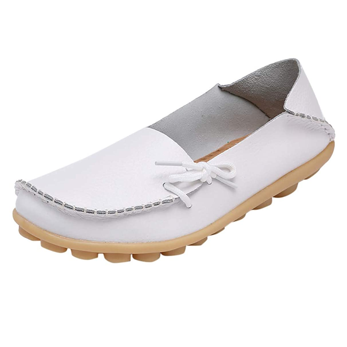 Tantisy ??? Women's Leather Loafers Casual Comfy Slip On Shoes Mocassins Flats Shoes Boat Shoes Driving Loafers Shoes