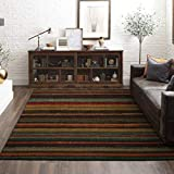 Mohawk Home New Wave Boho Stripe Area Rug, 7'6'x10', Multi