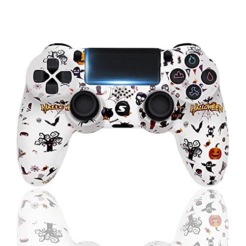 Controller für PS4, Wireless Controller für Playstation 4/PS4 Pro/PS4 Slim mit Touchpanel Gamepad Bluetooth Game Controller Joypad Joystick, LED lampe,Halloween (S15)
