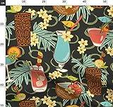 Hawaii, Tropisch, Tiki Stoffe - Individuell Bedruckt von