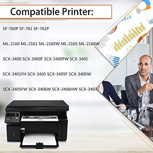 KCMYTONER 1 PK Toner Cartridge Compatible for Samsung MLT-D101S MLTD101S Black use in SCX-3405W ML-2165W SCX-3405FW ML-2161 ML-2166W ML-2160 ML-2165 SCX-3400 SCX-3401FH SCX-3406W ML-2161 Printer Photo #4