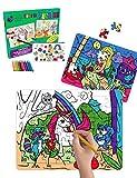 Purple Ladybug Novelty Zweifarbiges Mini Puzzle mit Meerjungfrauen und Einhorn-Motiv BastelPuzzle...