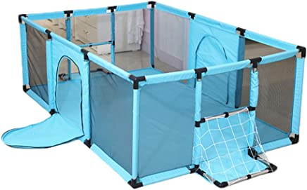 YEHL Playpen Baby Infant Security Fence with Mattress  Mesh Portable Playard Indoor Pitching Design Playground  Color Size Optional   color GREEN  Size 180x120cm
