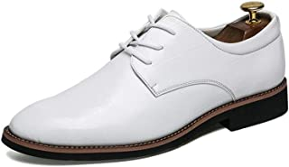 Sygjal Men's Business Oxford Casual Tips With Breathable Youth Trend Formal Shoes Dress Shoes (Color : White, Size : 39 EU)