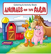 Animals on The Farm Kid's Educational Coloring & Activity Books in Bulk (25 Pack)