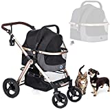 HPZ Pet Rover Prime 3-in-1 Luxury Dog/Cat/Pet Stroller (Travel Carrier + Car Seat +Strolle...