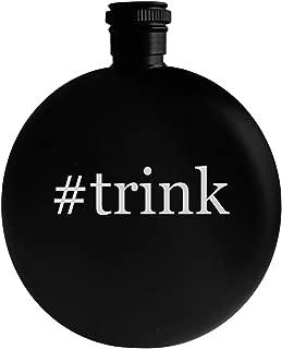 #trink - 5oz Hashtag Round Alcohol Drinking Flask, Black