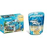 Playmobil- Acuario, única (9060) + Tiburón Martillo y Bebé (9065)
