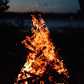 4K Campfire by the River - Relaxing Fireplace Nature Sounds - Robin Birdsong