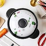 AZHom Milchtopf Baby-Pot Gekochte Porridge Nudeln Baby-Keramik Mini kleinen Topf BB Beikost Pot Open Fire Casserole for eine Person (Color : 3, Size : 1.8L)