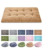 WONDER MIRACLE Fuzzy Deluxe Pet Beds, Super Plush Dog or Cat Beds Ideal for Dog Crates, Machine Wash & Dryer Friendly (23' x 35', L-Mocha)