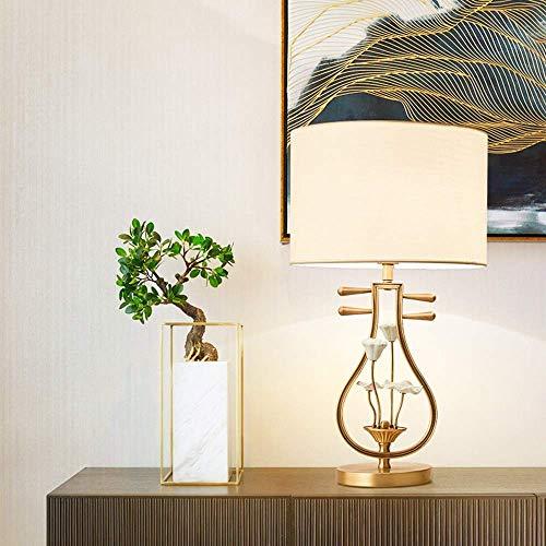 HNBMC Ceiling Light Lamp Table Lamp Bedroom Bedside Lamp Lighting The Whole Copper Lute Study Modern Creative Decoration Retro Desk Lamp 38 50cm LAMP-581J5F5H