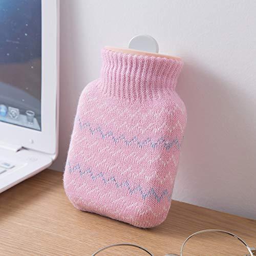 LIZONGFQ Winter tragbaren Mini-Wasser-Heizung-Beutel, Außen Silikon Explosionsgeschützte Heizung Mini Wärmflasche, gestrickte Silikon-Wasser-Einspritzung Handwärmer,B
