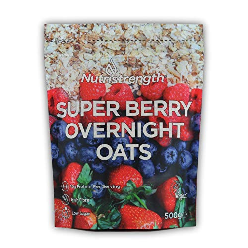 Protein Overnight Oats| Super Berry | Pea Protein, Pumpkin Protein Coconut Protein| 500g