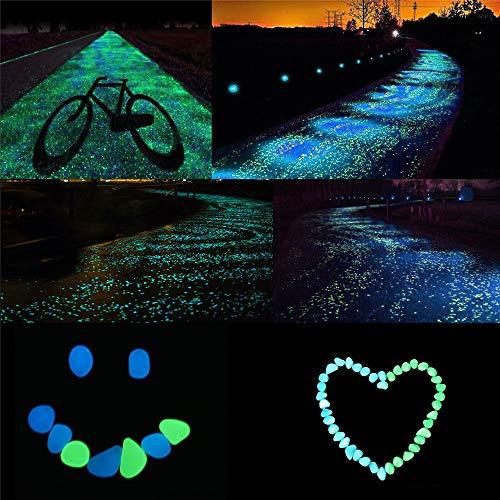 Dekorative Steine Glow in The Dark Rocks, Dekoration für Gehwege, Gärten, Einfahrten oder Zimmerpflanzen - Glow Rocks for Outdoor (Hellgrün)