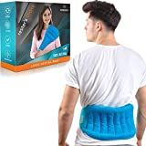 Microwave Heating Pad for Back Pain Microwavable | Heat Wrap for Back, Legs, Stomach Cramps, Neck and Shoulders, Lower Back Heating Pad | All-Natural Portable Moist Hot or Cold Therapy