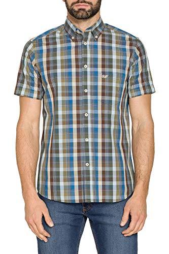 Carrera Jeans - Camicia per Uomo, Fantasia a Quadri, Tessuto Tinto Filo (EU XL)