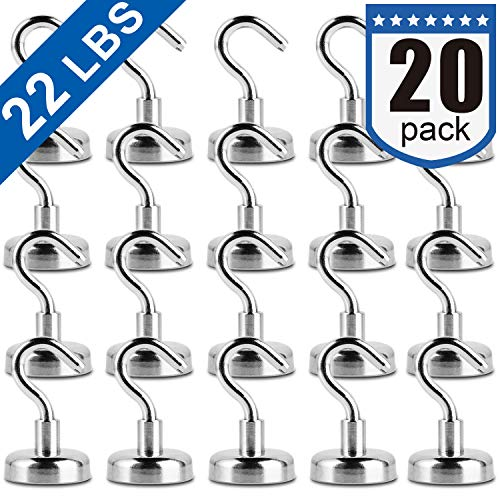 Magnetic Hooks, Facilitate Hook for Home, Kitchen, Workplace, Office and Garage, Pack of 20