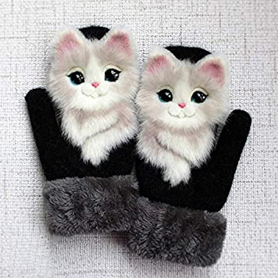 Amazon - Save 80%: Hand-knitted Pet Gloves Handmade Plush Animal Gloves Cute Gloves for Te…