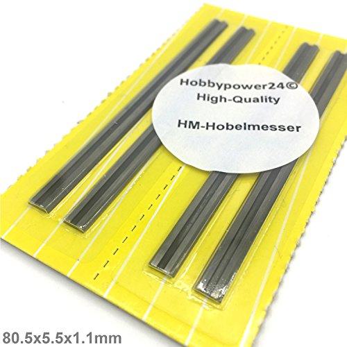 4x HM Hobelmesser 80,5mm für Hobel ELU MFF40, MFF80K, MFF80, MFF81, MFF81K