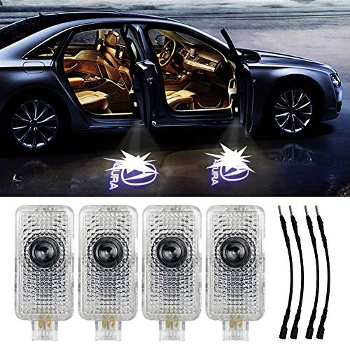 Grolish 4 Piece Auto Door Logo Projector Car Door Lights Door Step Courtesy Light for Acura