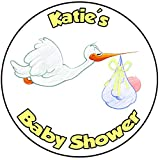 Decoración para tarta para baby shower, redondo, círculo, 20 cm, diseño amarillo