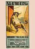 Vintage de viaje ESPAÑA para Sevilla El 1924Feria en la plaza de toros de Sevilla, 250gsm ART tarjeta A3reproducción de póster