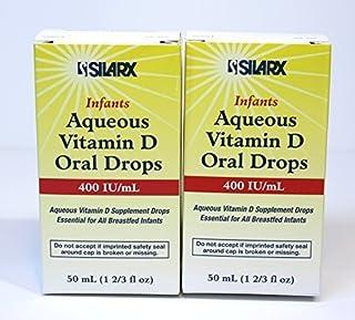 Infants Aqueous Vitamin D Oral Drops 400IU/ml 2-Pak (2 x 50ml) by Silarx