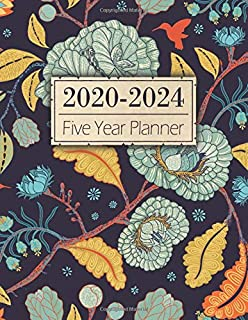 Five Year Planner: 60 Months | Yearly Monthly Calendar | Agenda Schedule Organizer and Appointment Notebook w/ Federal Hol...