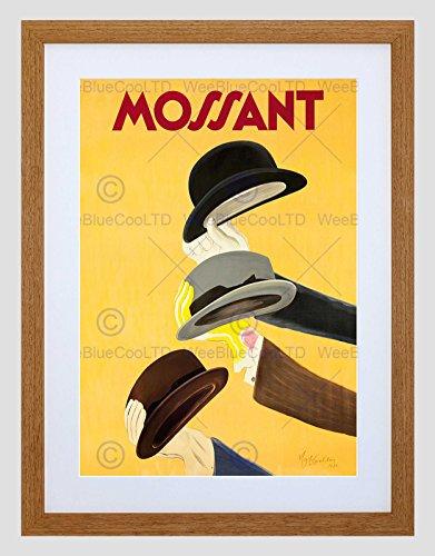 Wee Blue Coo Ad Kleding Hoed Mossant Hoofddeksels Cappiello Frankrijk Stijl Omlijst Muur Art Print
