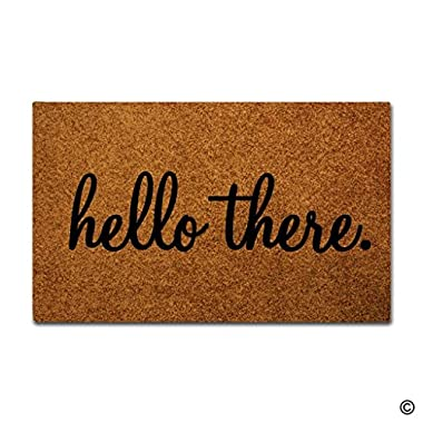 MsMr Door Mat Entrance Floor Mat Hello There Designed Funny Indoor Outdoor Doormat Non-woven Fabric Top 23.6 X15.7
