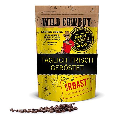 BLANK ROAST Roast Wild Cowboy - Frisch geröstete Kaffeebohnen, Espresso Bohnen & Kaffee Crema, 500 g