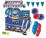 Irpot Kit n 71 Trenino Thomas Coordinato tavola Festa addobbi Bambino Party