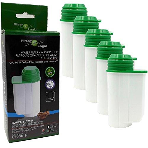 FilterLogic CFL-901B | 5er Pack - Wasserfilter für SIEMENS EQ Series EQ.9 EQ.8 EQ.7 EQ.6 EQ.5 EQ.3 - kompatibel mit Brita Intenza TZ70003 - alternative Filterpatrone, Filter Kartusche