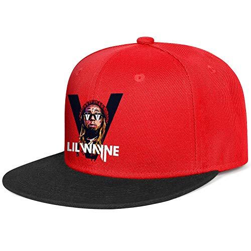 Red Cap Lil-Wayne-Logo-White- Cool Snapback Hat
