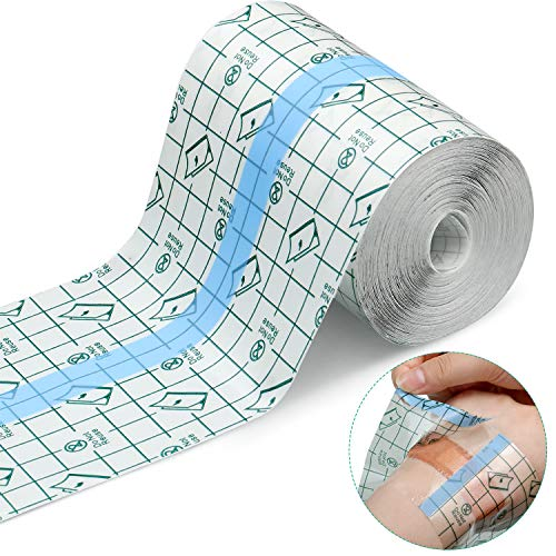 Transparent Stretch Adhesive Bandage Waterproof Bandage Clear Adhesive Bandages Dressing Tape for Tattoos (4 inch × 10.94 Yard)