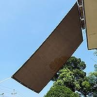 Sekey 2×2M 日除けシェード サンシェード クールシェード 庭 窓 玄関 ウッドデッキ ベランダ キャンプ 日除け 目隠し用 紐 インシュロック付属 簡単作業 UVカット モカ