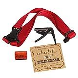 Kit accessori per ukulele, corde per ukulele, tracolla, sonaglio da dita, capotasto, set 4...